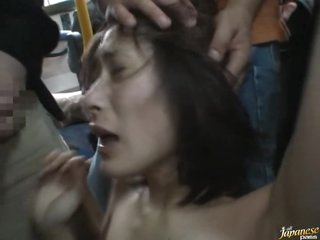 Abusing a Sexy Asian in Be imparted to murder Bus