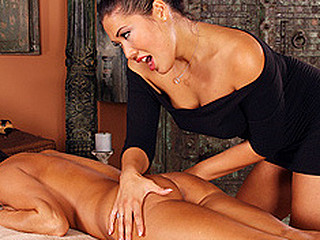 London leads Jessica into the massage room. Jessica is a bit apprehensive and nervous, during the time that London, the masseuse exudes calm and confidence. London exits, leaving Jessica alone in the room. Jessica slowly gets undressed. London, outside the room, watches undetected and this honey likes what this honey sees. One Time in nature's garb, London enters and starts a massage that Jessica is not at any time going to forget.