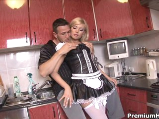 Sexy maid Donna Trepidation getting backdoor banged hard