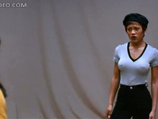 Marvelous Ebony Mollycoddle Theresa Randle Doesn't Like Wearing Bra