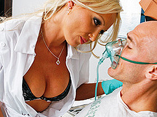 Sexy Dentist, Dr.Doll, comes in to take care of her patient Johnny. But her mind is easily distracted and this chick until this chick notices that this chab has a cavity and needs work done... Getting scared when that chick craves to begin drilling in his mouth, Johnny tries to leave! But Dr.Doll subdues him with laughing gas and letting him do the drilling.