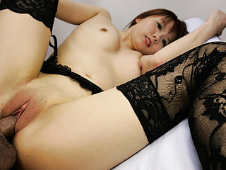 Himena Ebihara fascinating Oriental honey gets her shaved ribald cleft licked