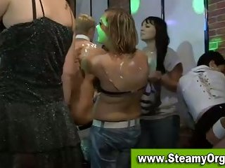 Party girls go wild for strippers