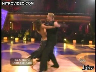 Ebony Angel Cheryl Burke Dancing In a Revealing Black Clothing