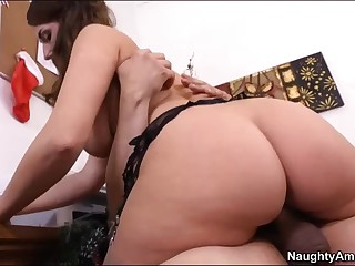 Lewd office brunette Paige Turnah with large bottom