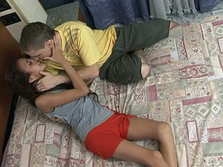 Dorm room heats up fast with lustful sex