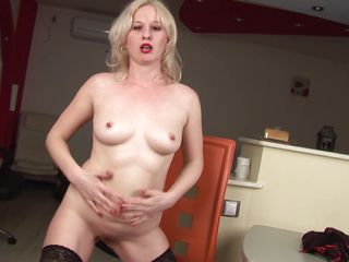 vicky is a excited slut coupled with she likes to masturbate