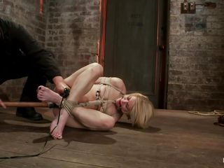 tied up blonde overhead the floor acquiring punished