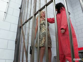 Did you ever tough that jail could be such a nice place? Look at this lustful brunette punishing a lustful blonde for talking to much. The way she fingers the blondes tight pussy and how she spanks her arse should really make a nice night. Maybe they will get some knob also for good behaving.