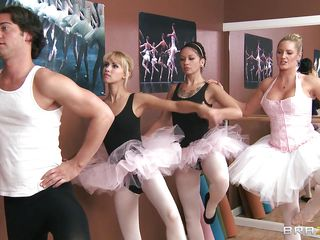 Seth has the reputation to maintain as one of the best ladies' man in school. For his next target, he is eyeing on Ms. Zoey, the hawt blond ballerina who teaches ballet next room. That's why he bravely entered the studio and succeeded on fondling her huge tits, as well as making her engulf his cock!