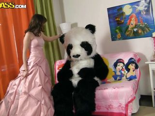 panda makes a playmate from a princess
