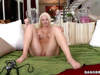 That babe gapes her pussy in front of the camera showing us that her tight cunt is ready to be drilled and then, after the chap licks her fur pie that babe starts giving him an awesome head, licking and engulfing his hard ramrod with that cum asking mouth. She's a pro and looks str8 at the camera while doing, knowing that we are watching her each and every move. Engulfing cock is not enough for her satisfaction so that babe gets on top to ride that ramrod in cowgirl position, perhaps her white sexy ass will receive some warm semen for all that work.