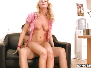 blonde milf with beamy tits is ready to fright fucked changeless