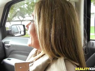 fair-haired milf picked up and enticed