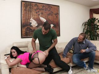 sophie dee has her bore spanked by jordan ash