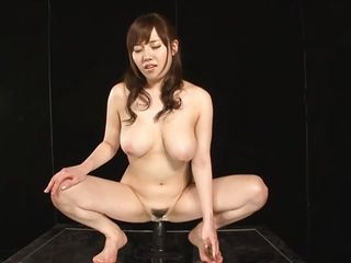 This is smth you will have a fun very much because Azusa, a gorgeous nippon milf with pink juicy lips, large breasts and hot hips is willing to show her amazing anal insertion skills. Using a large dildo attached on the table Azusa, with a smile on her face, stuffs her anus and shows us what we want to see