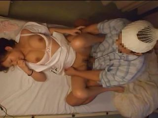 sexually excited thumbnail asian nurse drilled in the hospital