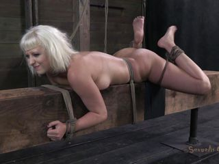 constrained and fucked on a wooden barn