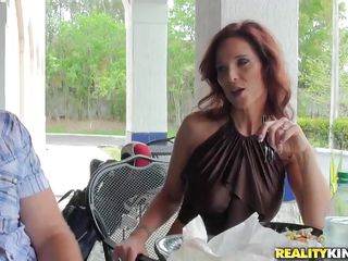 sexy milf has something hot under her Y-fronts