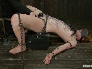 chains together with hot wax