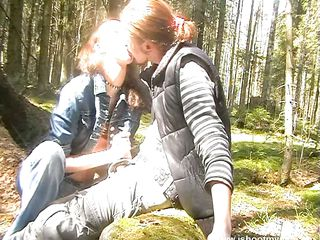vitiated russian chick sucking a cock more the forest