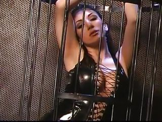 It's about gorgeous babes caged, tied and humiliated. What can we wish for more then seeing such gals enjoying their carnal pleasures. That brunette in the cage looks damn hot but so does the bald wench that's receiving a humiliating and colorful treatment. What a bunch of crazy girls, it worth's watching 'em