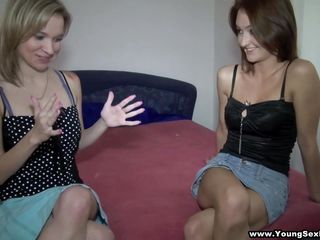 blonde mika and brunette angella willing for 4-way action!