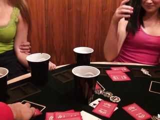 sluty girlhood are having fun go b investigate playing poker
