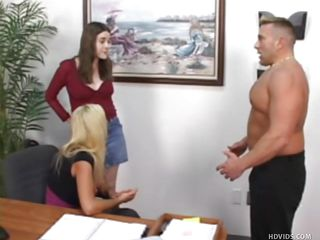 office worker acquires humiliating blowjob