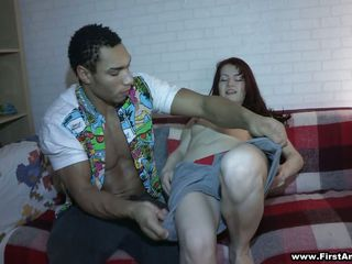 girl receives her clothes stripped wanting on hammer away couch