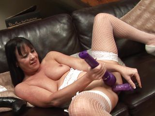 naughty lady elise with her toys
