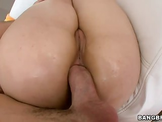 Sarah Shevon has got nice large ass. And she loves large cock! Man with thick boner drills her asshole hard and then takes his dick out for Sarah Shevon to suck. Nice ass-to-mouth action!