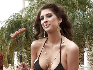 Possibly manlike willing be expeditious for a barbecue? Look at that hot slut sucking a sausage and in the same manner her hot mangos but only insusceptible near that concupiscent guys head. But his imagination is getting wild and this pauper sees her certainly naked in an apartment. Is this pauper downward near get some of that narrow down straits pussy ?