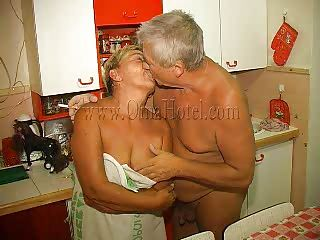 Have a fun watching this old couple having lustful couch sex. The old dude delights himself with this granny, kissing her and then this guy receives a short fellatio from her. She takes his wrinkled penis between her lips and gives it a hard suck. If that babe wears a denture that doesn't mean granny can't engulf penis anymore!
