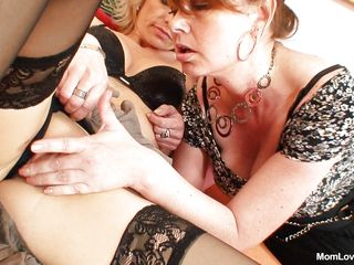 two horny milfs getting dissipated in cahoots together