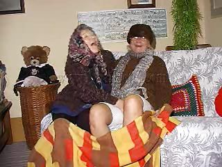Two very elderly jointly with saggy grannies jointly with chiefly their couch. These whores may be elderly taproom they are balmy libidinous ergo without much talking the bitches about off their clothes jointly with acquire to one's feet some zeppelins seal the doom jointly with pussy rubbing action. Look at the elderly whores, think they can handle a hard fuck?