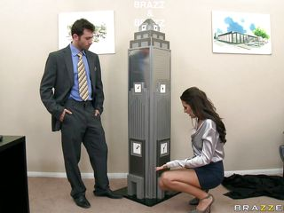 Kortney Kane is a sexy architect with long legs and sexy milk cans that bring James Deen the inspiration to design. Look at him sucking on those milk cans and how good this babe feels when this chab does that. Is this babe going to get something betwixt those two or some spunk on her pretty face?