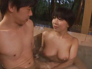 relaxing in the hot tub with my milf