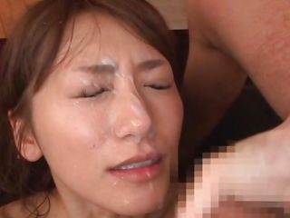 A japanese woman look good with dick in her mouth but this babe looks even better with hawt cream all over her face. Saki enjoys giving head coz this babe just can't live without the feeling of ball cream all over her face. See how when this babe opens her mouth after getting cum covered? That babe can't live without to taste it likewise and probably will acquire some more