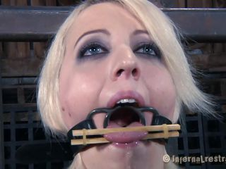 blonde beauty happy to be punished