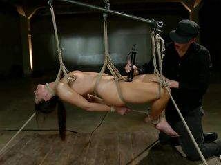 She has a glorious body and this babe had certainly never thought that her body will be used like that to give a sadistic pleasure to this man who appears to be to be hell bent on destroying her. He has tied her and left her hanging in the air to let her feel both the excruciating ache and the humiliation.