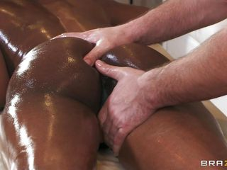 Swarthy goddess Jasmine Webb gets her pretty darksome skin rubbed by masseuse Keiran Lee. She gets her large tits rubbed and her pussy fingered. This makes her so horny that she desperately needs to engulf on Keiran Lee's hard white cock.