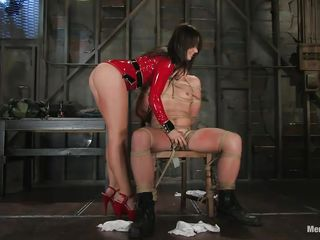 mistress dominating her dude and torturing his cock