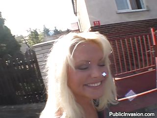 blond czech milf craves douche