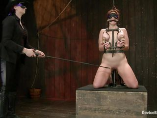 And so is a kinky session of bdsm! This whore stays in her knees all tied up and with her boobs squeezed while her mistress, just like that babe is, has a blindfold around her eyes. The mastix spanks the doxy with an electric wand and the rest is for u to watch and have a fun it!