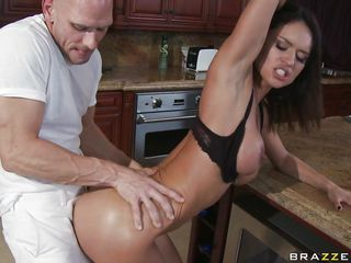 couple fucking in the kitchen table