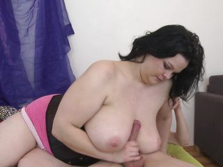 horny chubby mature fucking with excitement