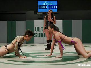 whores wrestling hard