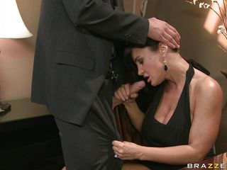 Lisa Ann, is the sexiest and the majority busty milf you could dreamed of! And when  this super hot lady gets lascivious she does not care about the place or people. In a fancy party this busty housewife got a nice bone to dry off her wet cunt and cool her busty large boobs. So she treated the large dick with variety of blowjob and fed her amazing bumpers and nice ass to the guy. And the boned stud took off her panty. You know  what happens next!