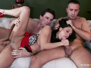 ava adams is drilled by 2 big hard cocks